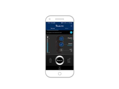screenshot of bluelink app on the iphone: unlocking the car